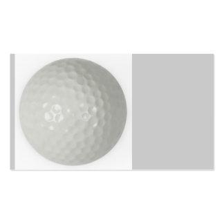 golf ball pack of standard business cards
