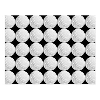 Golf Ball Pattern Post Card