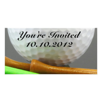 Golf Ball Personalized Photo Card
