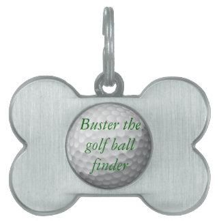 golf ball pet tag