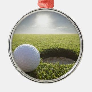 Golf Ball PGA Silver-Colored Round Decoration