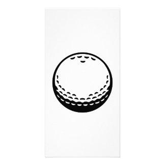 Golf ball photo card template