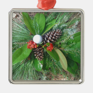Golf ball pine cones and evergreens Christmas Christmas Ornament