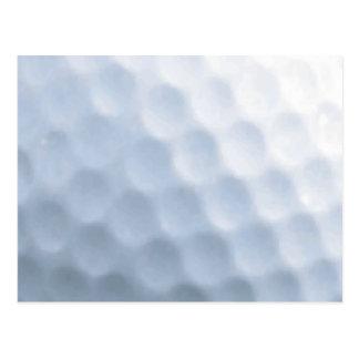 Golf Ball Print Pattern Background Postcard
