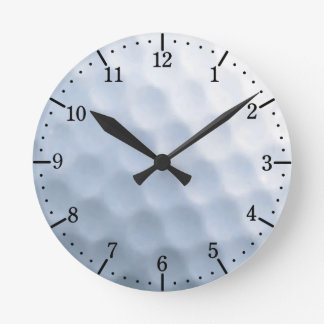 Golf Ball Print Pattern Background Round Clock