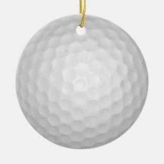 Golf Ball Round Ceramic Decoration