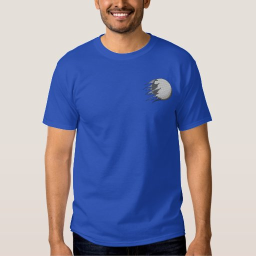 Golf Ball (shredded) Embroidered T-Shirt