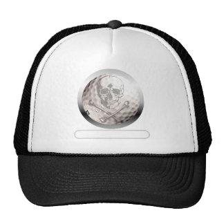 Golf Ball Skull and Crossbones Cap