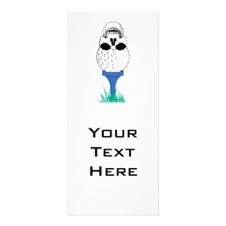 golf ball skull on tee graphic personalised rack card