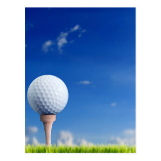Golf Ball Sky Postcard
