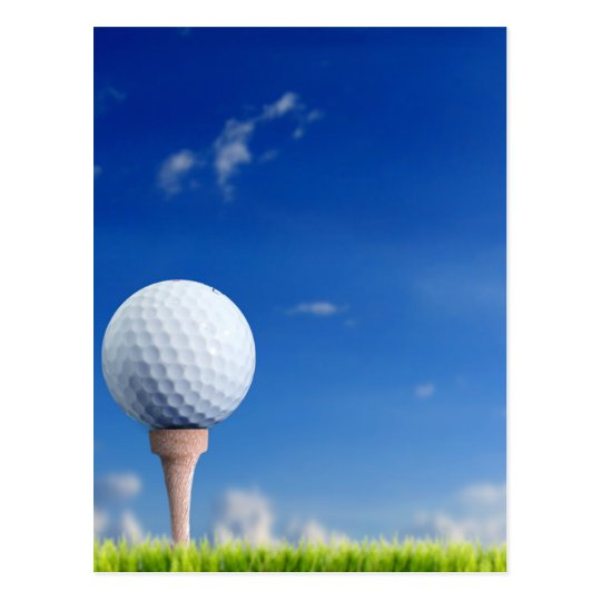 Golf Ball Sky Postcard
