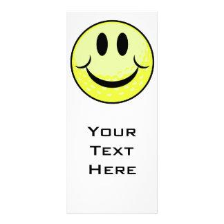 golf ball smile face custom rack card