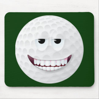 Golf Ball Smiley Face 2 Mouse Pad