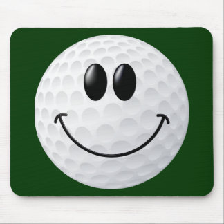 Golf Ball Smiley Face Mouse Mat