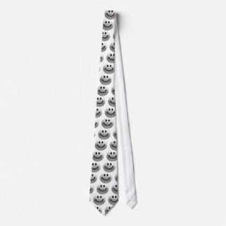 Golf ball smiley tie