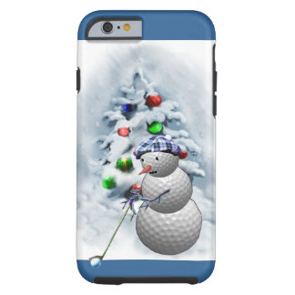 Golf Ball Snowman Christmas Tough iPhone 6 Case