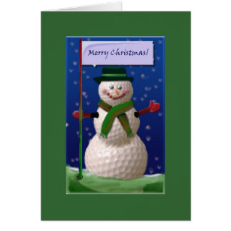 Golf Ball Snowman for the Golf Nut Card