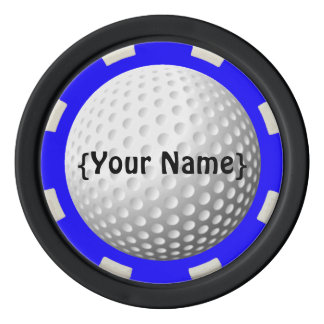 Golf ball spotter poker chip poker chips
