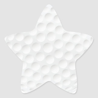 golf ball star sticker