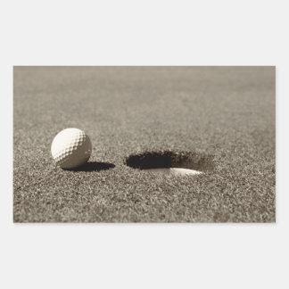 Golf Ball Rectangular Stickers