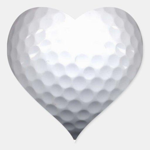 golf ball heart sticker
