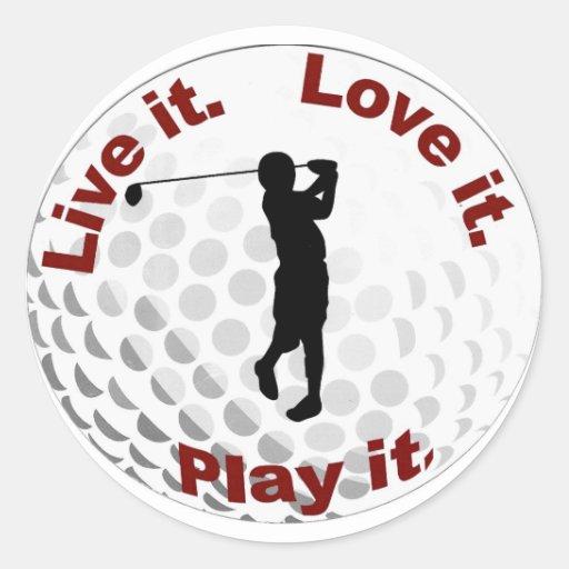 golf ball stickers