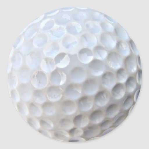 golf ball round sticker