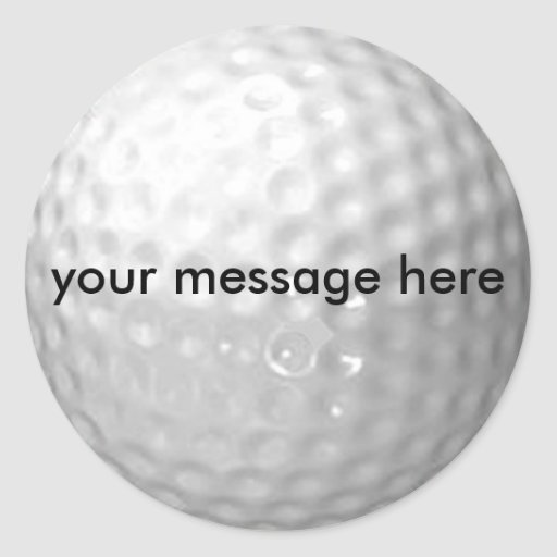 golf ball stickers - add your message