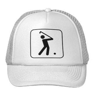 Golf Ball Symbol Hat