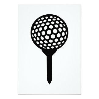 "Golf Ball tee 3.5"" X 5"" Invitation Card"