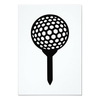 Golf Ball tee 9 Cm X 13 Cm Invitation Card