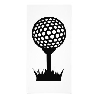 Golf Ball tee Customized Photo Card