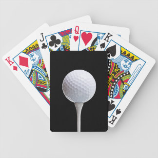 Golf Ball & Tee on Black - Customized Template Bicycle Playing Cards