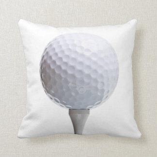 Golf Ball & Tee on White Customized Template Cushion