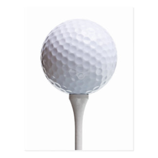 Golf Ball & Tee on White Customized Template Postcard