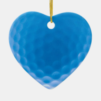 Golf Ball Texture Dimples Arctic Blue Christmas Ornament