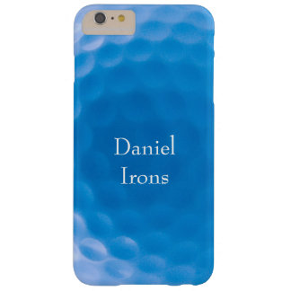Golf Ball Texture Dimples_Arctic Blue_personalized Barely There iPhone 6 Plus Case
