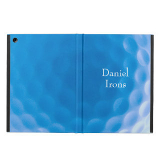 Golf Ball Texture Look Dimples Arctic Blue Cover For iPad Air