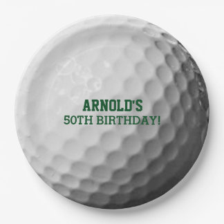 Golf Ball Texture Personalized Paper Plate