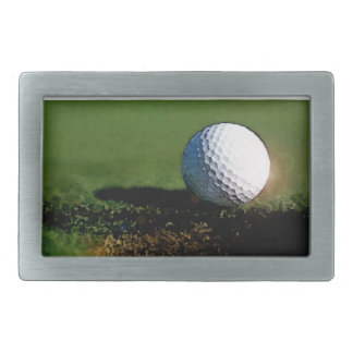 Golf Ball & the Hole Rectangular Belt Buckles