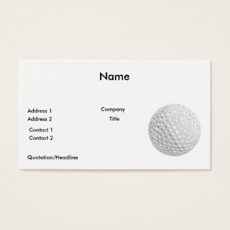 golf ball vector graphic business card