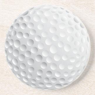golf ball vector graphic coaster
