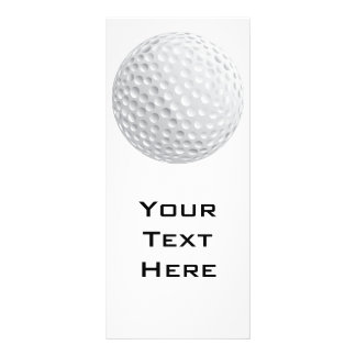 golf ball vector graphic rack card template