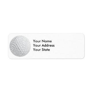 golf ball vector graphic return address label