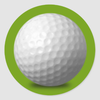 GOLF BALL VECTOR ICON GRAPHICS greens WHITE SPORTS Round Sticker