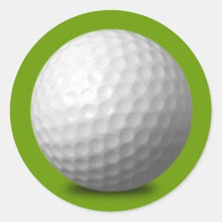 GOLF BALL VECTOR ICON GRAPHICS greens WHITE SPORTS Round Sticker