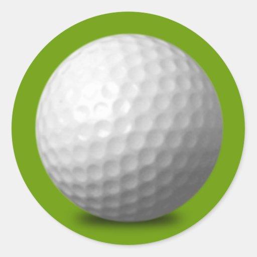 GOLF BALL VECTOR ICON GRAPHICS greens WHITE SPORTS Sticker
