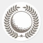 Golf Ball Vintage Design Classic Round Sticker