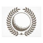 Golf Ball Vintage Design Custom Invitation