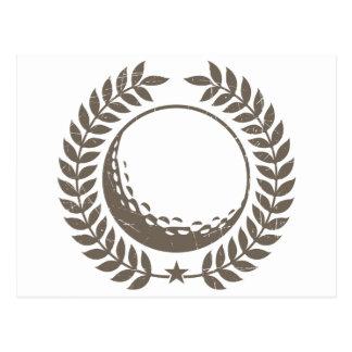 Golf Ball Vintage Design Postcard